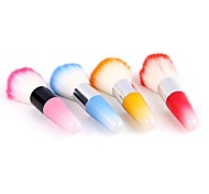PINPAI 1PCS Nail Dust Brush with Long Handle Brush Cleaning Dust Nylon Wool Imports Nail Brushes Nail Art Tool Random Colors