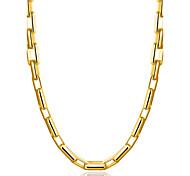 Недорогие -Муж. Геометрической формы форма Классика Elegant Готика Простой стиль Ожерелья-бархатки Бижутерия Позолота 18К Сплав Ожерелья-бархатки