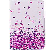 Case For Ipad Mini 1 2 3 Mini 4 Case Cover Heart Pattern PU Material Triple Tablet PC Case Phone Case