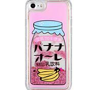 Case for apple iphone 7 plus iphone 7 покрытие текущая жидкость шаблон задняя крышка чехол слово / фраза фрукты блеск блеск жесткий ПК для