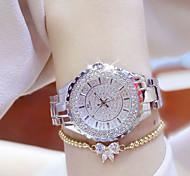 Damen Armbanduhr Armband-Uhr Einzigartige kreative Uhr Armbanduhren für den Alltag Simulierter Diamant Uhr Pavé-Uhr Chinesisch Quartz