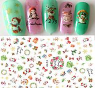 1 Стикер искусства ногтя 3-D Рождество Компоненты для самостоятельного изготовления Стикер макияж Косметические Ногтевой дизайн