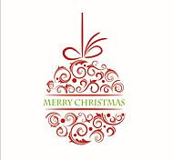 Недорогие -Рождество Романтика Праздник Наклейки Простые наклейки Декоративные наклейки на стены,Бумага материал Украшение дома Наклейка на стену