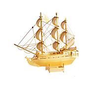 Недорогие -Пазлы Металлические пазлы Игрушки Корабль 3D Своими руками Медь Металл Не указано Куски