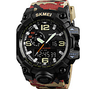 SKMEI Men's Sport Watch Wrist watch Digital Watch Japanese Quartz Digital Calendar Water Resistant / Water Proof Dual Time Zones Alarm