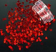 cheap -1pcs Nail Glitter Sequins Heart shape Sparkle & Shine Nail Art Design