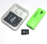 Cartão de memória 32gb microsdhc tf com leitor de cartões usb e sdhc sd adapter