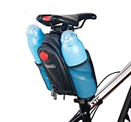 cheap -ROSWHEEL Bicycle Saddle Bag W/ 2 Water Bottle Pouch & LED Tail Light Seat Post Storage Pannier Pack Bycicle Bolsa
