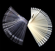 Nail Art Lalic False Fan Wheel Practice board Tip Sticks Nail Art 50pcs Polish / Nail