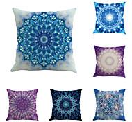 Set Of 6 Bohemia Design Flowers Pillow Cover Vintage Square Pillow Case Sofa Cushion Cover