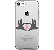 For iPhone 7Plus Case Cover Transparent Pattern Back Cover Case Heart AIDS Red Ribbon Soft TPU for iPhone 7 6sPlus 6plus 6s 6  5 5s SE