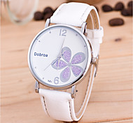 cheap -Men's Women's Quartz Wrist Watch Chinese PU Band Flower Unique Creative Watch Fashion Black White Red Brown
