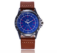 XU Men's Leather Belt Casual Wrist Big Dial Wrist watch