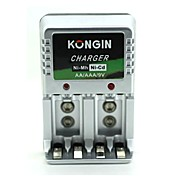 Kongin aa / aaa / 9v plug-in europeo ni-mh / ni-cd
