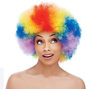 Недорогие -Парики из искусственных волос Кудрявый плотность Без шапочки-основы Красный Парики для косплей Средние Искусственные волосы