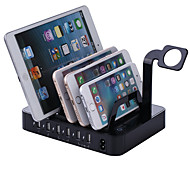 USB Charger 6 Ports Desk Charger Station With Switch(es) Stand Dock Charging Adapter