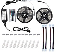 Led Light Strip Kit 5050 10M(2*5M) 600leds RGB 60leds/m with 44key Ir Controller and 6A Power Supply(UL) and Gift a Set Mounting Bracket