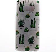 Case For Samsung Galaxy S8 S8 Plus Case Cover Cactus Pattern 3D Relief Milk TPU Material Phone Case For Galaxy S7 S7 Edge S6 S6 Edge