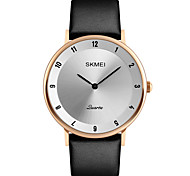 SKMEI Men's Dress Watch Fashion Watch Wrist watch Japanese Quartz Calendar Water Resistant / Water Proof Leather Band Luxury Elegant Cool