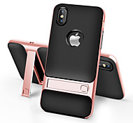For iPhone X iPhone 8 iPhone 8 Plus Case Cover with Stand Back Cover Case Solid Color Hard PC for Apple iPhone X iPhone 8 Plus iPhone 8