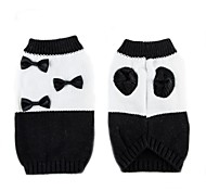 cheap -Cat Dog Sweater Dog Clothes Bowknot White/Black Chinlon Costume For Pets Casual/Daily Keep Warm