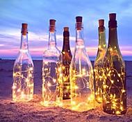 abordables -2m 20-llevó la luz de la secuencia del alambre de cobre con el tapón de la botella para la botella del arte de cristal