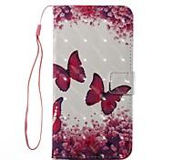 caso per mela iphone 7 più 7 custodia porta carta con copertura di caso con telaio flip modello pieno corpo farfalla hard hard iphone 6s