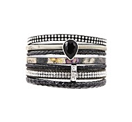 Women's Leather Bracelet Jewelry Fashion Personalized Leather Rectangle Jewelry For Gift Daily