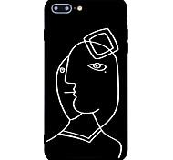 Недорогие -Кейс для Назначение Apple iPhone 7 Plus iPhone 7 Матовое С узором Кейс на заднюю панель Полосы / волосы Твердый Акрил для iPhone 7 Plus
