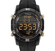 Муж. Спортивные часы Модные часы Повседневные часы Китайский Цифровой Календарь Секундомер Защита от влаги Фосфоресцирующий силиконовый