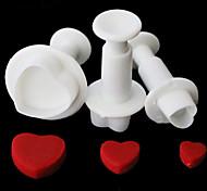 abordables -1 set / 3 pcs amour coeur plongeur cutter moule sugarcraft fondant gâteau décoration bricolage outil