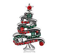 Муж. Жен. Броши Мода Chrismas Серебрянное покрытие Позолота Бижутерия Назначение Для вечеринок Рождество