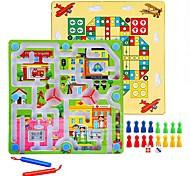Scacchi Palline Puzzle Labirinto giocattolo Gioco educativo Anti-stress Giocattoli Tonda Rettangolare Unisex 1 Pezzi