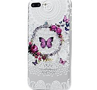 For iPhone X iPhone 8 Case Cover Pattern Back Cover Case Butterfly Lace Printing Soft TPU for Apple iPhone X iPhone 8 Plus iPhone 8