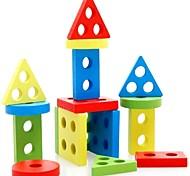 Недорогие -Обучающая игрушка Деревянные пазлы Цилиндрическая Треугольник Прямоугольная Универсальные