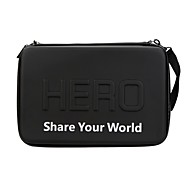 cheap -Andoer Carrying Case Box Bag PU for GoPro Hero 4/3 /3/2/1 Camera and Accessories with Strap Zipper Black