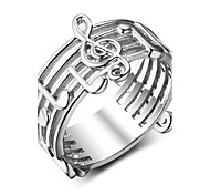 Women's Band Rings Punk Sterling Silver Geometric Jewelry For Gift Valentine