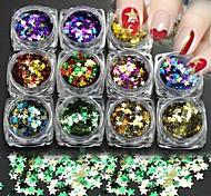 Недорогие -11 Блеск Звезды Другое Украшения для ногтей Компоненты для самостоятельного изготовления Мультфильмы Новый год Рождество 3-D блестит