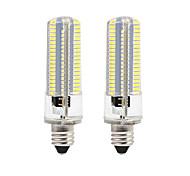 BRELONG Dimmable E11 E12 E14 E17 8W 152x3014SMD 3000-3500K/6000-6500K Warm White/White Light LED Corn Bulb AC110V/220V 2PCS
