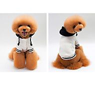 Dog Hoodie Dog Clothes Casual/Daily Solid White Dark Blue Gray Costume For Pets