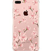 abordables -Funda Para Apple iPhone X iPhone 8 Transparente Diseños Cubierta Trasera Flor Suave TPU para iPhone X iPhone 8 Plus iPhone 8 iPhone 7