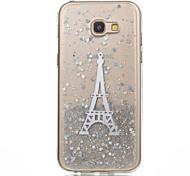 For Samsung Galaxy A5(2017) A3(2017) Phone Case TPU Material Eiffel Tower Flash Powder Phone Case