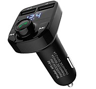 cheap -Car Truck HY-82 V4.2 FM Transmitter Car Handsfree Sound Control FM Transmitters MP3 Player With Speaker Music