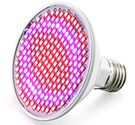 Недорогие -6.2W 800-850 lm E26/E27 Растущие лампочки 200 светодиоды SMD 2835 Красный Синий AC 85-265V