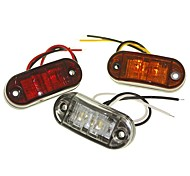 Sencart 2LED White/Red/Yellow LED Clearance Side Marker Light Truck Car Van Trailers Lamp 9-30V