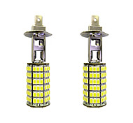4W H1 120SMD2835 Near Light/Fog Lamp for Car White DC12V 2Pcs