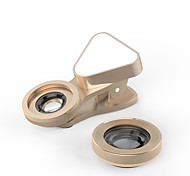 Mobile Phone Lens Wide-Angle Lens Macro Lens Aluminium Alloy 10X and above 0.03 Lens with LED Light