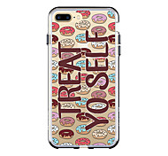 Назначение iPhone 7 iPhone 7 Plus Чехлы панели Ультратонкий Прозрачный С узором Задняя крышка Кейс для Продукты питания Мягкий