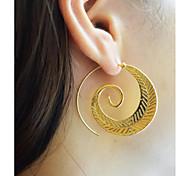 Жен. Серьги-кольца Бижутерия Мода Массивные украшения Сплав В форме листа Бижутерия Назначение Повседневные На выход