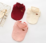 economico -Cane Maglioni Felpe con cappuccio Abbigliamento per cani Casual Solidi Beige Rosso Rosa Costume Per animali domestici